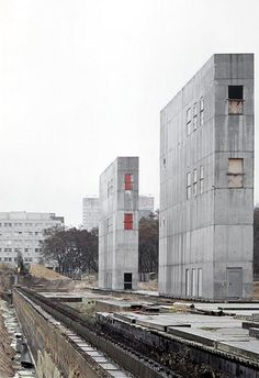 Cores for the 'Topographie des Terrors', Berlin. Demolished in 2004 | Architektur: Atelier Zumthor