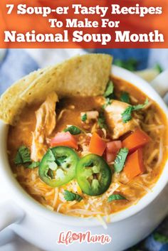Did you know January is National Soup month? If you're a soup lover like us, then you need to check out these warm and tasty bowls of goodness!