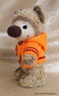 Bear crochet. Free pattern. Медвежонок в стиле Pudra Studio: мастер-класс с пошаговыми фотографиями.