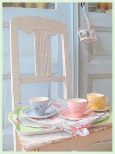 pretty shabby tea sets