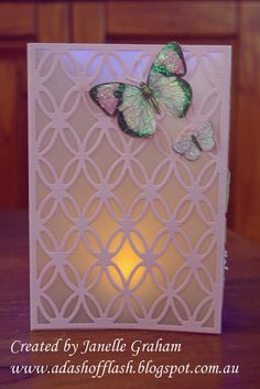 Side of a Tealight Card made during a Couture Creations class at Brisbane Papercraft Expo 2014