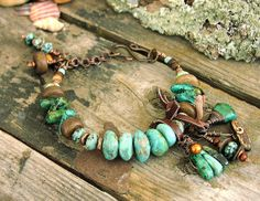 Ladies Kingman Turquoise African Turquoise Vintage by Mojowoman, $200.00