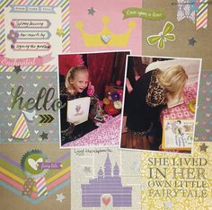 Simple Stories Enchanted Layout by design team member Apryl using Enchanted Collection by Simple Stories found at fotobella.com