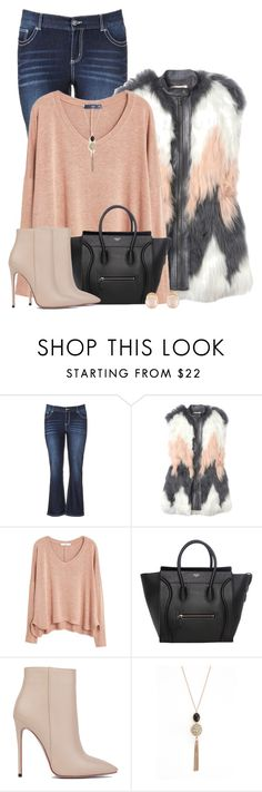 """""""Tassel Necklace/Fur Vest"""" by majezy ❤ liked on Polyvore featuring maurices, Rebecca Taylor, MANGO, Akira Black Label, Swarovski and Kenneth Jay Lane"""