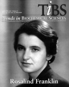 Rosalind Franklin (1920-1958), notable científica que  permaneció  en la sombra durante más de veinte años.  Londres, fue biofísica y cristalógrafa,