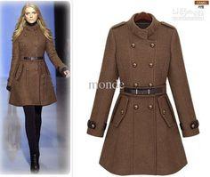 Wholesale 2013 new monde slim women's coats women's trench coats women's coats Women Outwear Brown woolen coat, Free shipping, $62.0/Piece   DHgate Mobile
