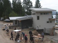 If you missed some of the action on the Cabin Cam, you can relive the construction process here in these time-lapse photos. (You can see host Chris Grundy in action in the bottom right of this shot!)