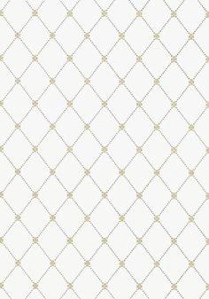 Wilton Trellis metallic gold and grey #Thibaut #Geometric