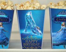 Cinderella Popcorn Box, Cinderella Movie Invitation, Cinderella Movie Popcorn Box, Cinderella Movie 2015, Cinderella Movie