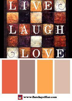 Happy Color Palette: Live, Laugh, Love, Art Print by Dee Dee - BandagedEar.com
