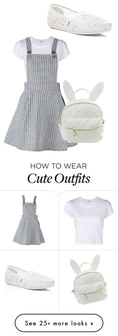 """Outfit #33"" by bandrocks on Polyvore featuring RE/DONE, TOMS and cutekawaii"
