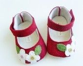 no 048 Leila Felt Baby Shoes PDF Pattern by sewingwithme4 on Etsy