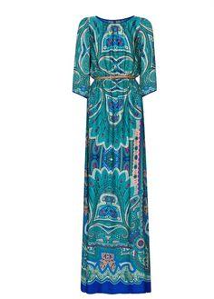 MANGO - Sukienka z nadrukiem paisley