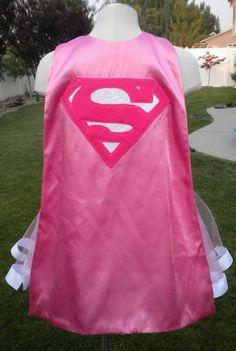 Supergirl Super Hero Costume Cape. $15.00, via Etsy.