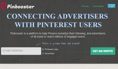 Pinbooster is a platform to help Pinners monetize their following, and advertisers of all sizes to reach millions of engaged users.