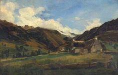Theodore ROUSSEAU  A hilly landscape in Auvergne, 1831   #Auvergne-Rhône-Alpes