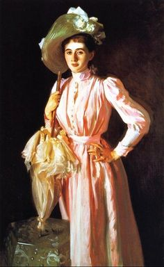 John Singer Sargent (American expatriate artist, 1856-1925) Eleanor Brooks with umbrella