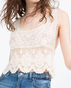 top croped blusa renda branca de alsas zara 2
