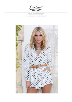 2ccb8f684b29 Full Sleeve Jumpsuits Women Rompers Elia Cher Brand 2017 Plus Size Casual Women  Clothing Chic Fashion Dot Print Rompers 6702