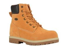 Men's Lugz Brace Hi Ankle Boot - Golden Wheat/Bark/Cream/Gum Synthetic Boots Timberland Boots Style, Timberland Waterproof Boots, Mens Braces, Yellow Boots, Vegan Boots, Timberlands, Shoe Company, Casual Boots, Fashion Boots