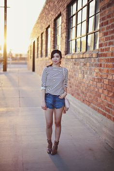 Scallops and Stripes Bell Sleeves, Bell Sleeve Top, Scallops, Hipster, Stripes, Fresh, Lifestyle, My Style, Clothes