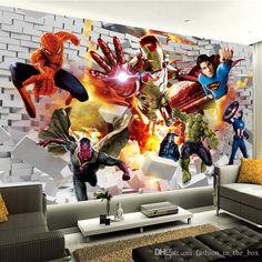 🌟 💖 🌟 💖 Avengers Wallpaper photo wallpaper Hulk Iron man Superman Custom Wall Mural Boy Kid Bedroom Bricks wallpaper For walls TV backdrop Decor Iron Man Wallpaper, Brick Wall Wallpaper, Avengers Room, Marvel Room, Hulk Avengers, Free Desktop Wallpaper, Photo Wallpaper, Boys Bedroom Wallpaper, Kids Bedroom Boys
