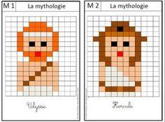 modèle de pixel art sur la mythologie et l'Egypte antique