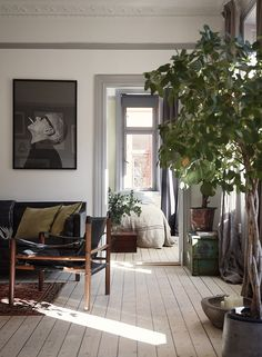 Unser Zuhause - Historische Häuser - Maison - Décoration - Home - Interior - Flowers Pics Interior Design Living Room, Living Room Decor, Living Spaces, Tree Interior, Design Bedroom, Interior Ideas, Interior Styling, Home And Deco, Home Fashion