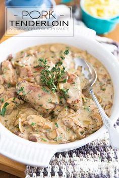Ready in under 20 minutes, this Pork Tenderloin in Creamy Mushroom Sauce is perfect for any night of the week, yet is so good that it's totally worthy of being served on any special occasion!