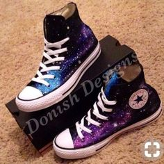 4eec93c069c0 Custom Painted Galaxy Converse Shoes