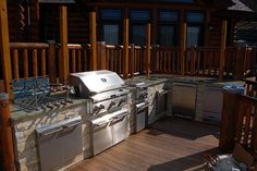 """Can you say """"fully stocked BBQ area""""?  WOW!  Better than most people's kitchens..."""