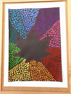 fall art projects for kids Espace petits points Autumn Art, Autumn Leaves, Black Crayon, Fall Art Projects, Mosaic Birds, Paper Weaving, Leaf Template, Pointillism, Art Plastique