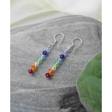 Chakra Gemstone Earrings with Sterling Silver Ear Wire, #Yoga #Jewelry $12.99