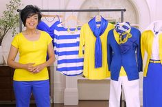 Type 4 Favorite Colors: How to Wear Blue + Yellow – Candle Making Dyt Type 4 Clothes, Kinds Of Clothes, Winter Typ, Color Me Beautiful, Capsule Wardrobe, Core Wardrobe, Color Combos, Blue Yellow, Casual Outfits