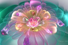 This is another bloom based on the marvelous tutorial by `lindelokse. I just love the flowers this style makes! Color in Bloom Art Fractal, Fractal Images, Fractal Design, Et Wallpaper, Wow Art, Spring Blooms, Pretty Pastel, Oeuvre D'art, Amazing Art