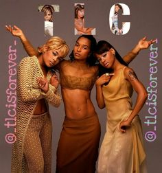 Hip Hop Fashion, 90s Fashion, Beautiful Black Women, Beautiful People, Tlc Group, Vintage Black Glamour, Women In Music, Hip Hop And R&b, Female Singers