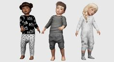 4 of chisami's homegrown meshes for your ts4 toddlers!! → mabo easy top 4 swatches → comfy sweats 4 swatches → baggy back pocket shorts 3 swatches → bed bug onesie 6 swatches TOU: recolor away!!! just...