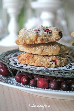 eidenfeins Blog vom schönen Landleben: Kokos - Cranberry - Kekse & 180 Häkelblüten * coconut - cranberry cookies