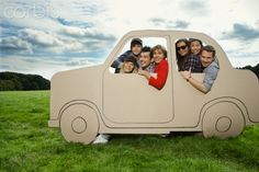 Cardboard Car Cutouts | Sign in to download a comping image | Open in a separate window