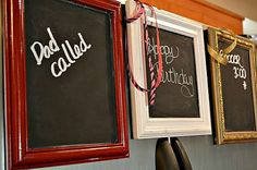 Decorative Red Magnetic Chalk Board Frame by ReinventingOrdinary, $20.00