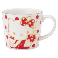 Hello Kitty Christmas Xmas Mug Cup RED SANRIO JAPAN