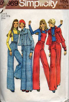 1970s Simplicity 6669 Misses Swing Jacket and Pants by mbchills