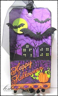 For my post today, I have created a fun Halloween tag with several dies in the last new release. #cheeryld Dies used: Halloween (Set of 2) - B344; Winter Neighborhood Border - B323; Spider Web Mesh Border - B322; Ankara Lace Border - B332; Fall Pumpkins - B240; Going Batty - A194; Spiderweb - DL162; Happy (Set of 2) - B226; Doily Stacker Circles 1, 2, 3 - DL164; Embellishment #2 - B188 http://www.cheerylynndesigns.com