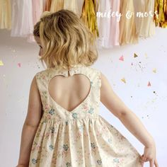 Lena Dress?  C O C O - A beautiful vintage style sleeveless dress. It has a full skirt, which is what little girls love and a fitted bodice with a beautiful love