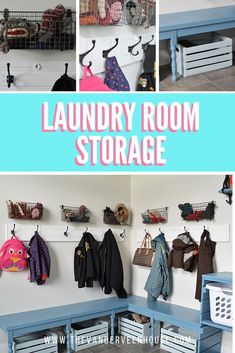 Are you looking for budget friendly mudroom storage solutions? In this laundry room makeover I show you 4 great storage solutions to keep you organized! Treatment Projects Care Design home decor Room Makeover, Room, Mudroom, Diy On A Budget, Laundry Room Storage, Home Organization Hacks, Room Storage Diy, Mud Room Storage, Storage Solutions