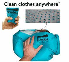 持ち運び可能な洗濯バッグ『The Scrubba』