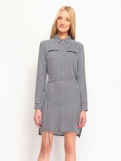 Γυναικείο φόρεμα πουκαμίσα High Neck Dress, Lady, Sweaters, Dresses, Fashion, Turtleneck Dress, Gowns, Moda, Fashion Styles
