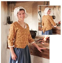 Colonial costume for docenting at historic house