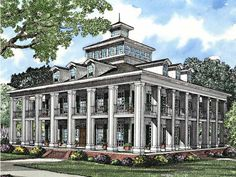 3,130 sq.ft. 3 bedroom 3 bathroom 2 Story Wrap around porch. Elevator, 1st floor laundry - Neoclassical style