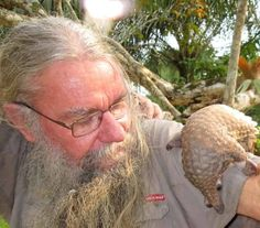 Interactive interview - Rod Cassidy with a pangolin he personally rescued from a…